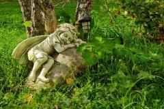 Lähikuva levollisesta enkelistä